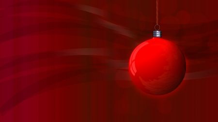 red Christmas background with a red globe Stock Photo