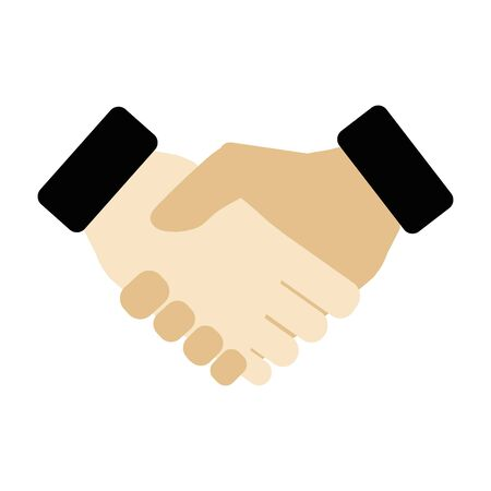 Handshake of business partners. Trendy vector flat style illustration Banque d'images - 147651336