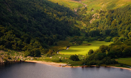 mountainscape: Luggala valley Stock Photo