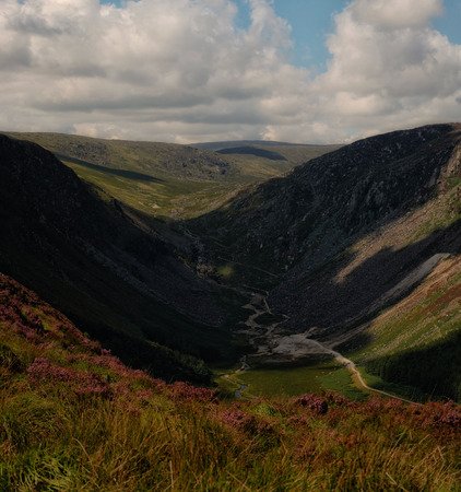 mountainscape: Glendalough valley Stock Photo