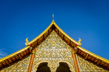 thailand temple: Gold Roof of Thailand Temple Stock Photo