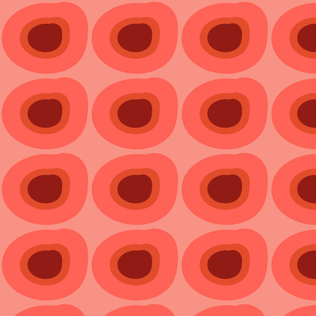 Beautiful pink retro circles pattern