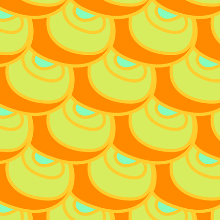 Beautiful mustard circles pattern. Stock Illustratie