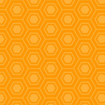 Beautiful mustard hexagon pattern. Çizim