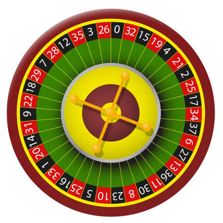 Vector color image roulette. Roulette casino vector isolated image on white background Vector Illustratie