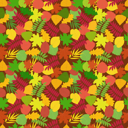 Tree leave. Seamless vector pattern of autumn leaves for design, Wallpaper, fabric, packaging
