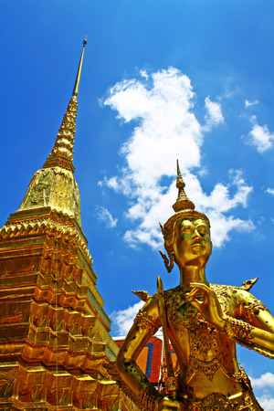 speculative: The Golden Nagas at  Wat Phra Kaew Stock Photo