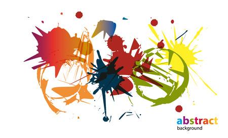 cor: Splash - Various colors - patches - paintbrushes