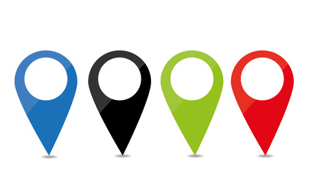 Pin - tag a location -Indicate Illustration
