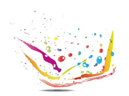 Various colors - patches - brushes - paintings - ink - Vector