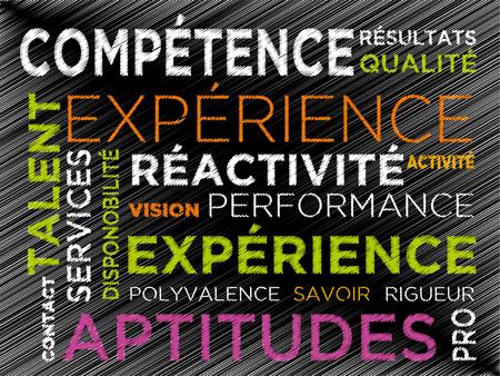 Competence professional job training experience Illustration