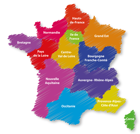 France Map and regions