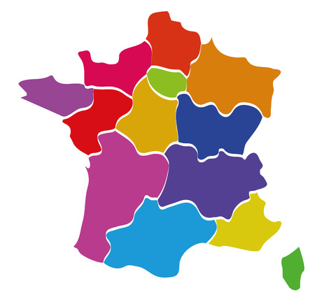 France colored map