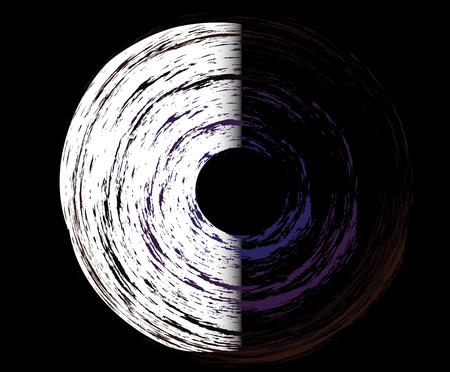murky: abstract circle, tecnology, galaxy Illustration