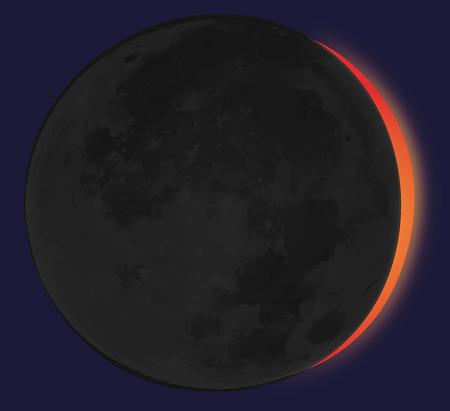celestial body: Moon - Space - Lunar Universe Illustration