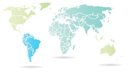 Kaart - Wereldkaart - Wereldbol - Aarde - Planeet