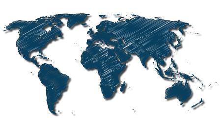 planisphere: Map - World Map - Globe - Earth - Planet