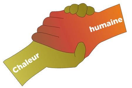 racismo: Compartir - apretón de manos