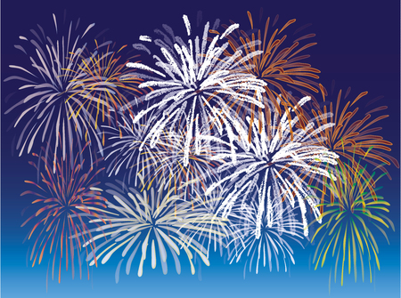 Fireworks - illustration - vector Illustration