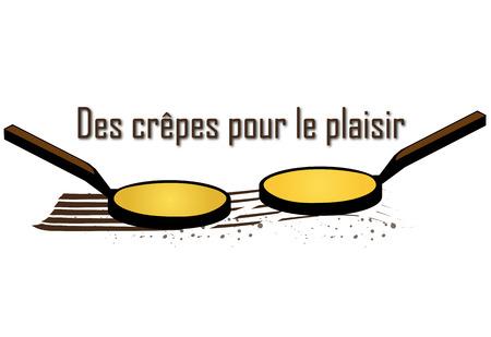 C'est Candlemas - Poêles aux crêpes Banque d'images - 74397701