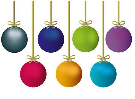 Christmas balls - decoration Illustration