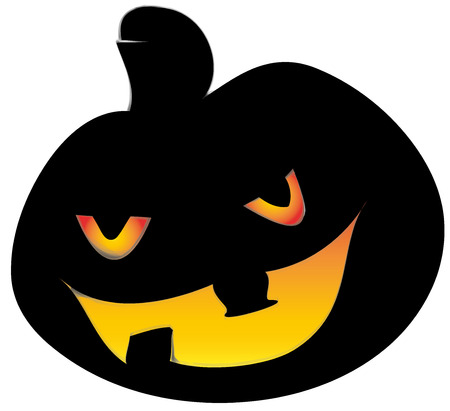Hallowen pumpkin, bright