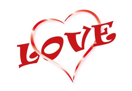 Valentine, heart and love text illustration Illustration