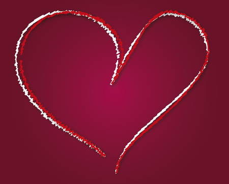 Valentine, heart illustration Illustration