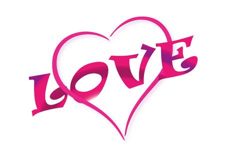 madness: Valentine, heart and love text illustration Illustration