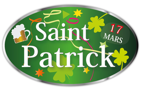 St. Patricks Day March 17 Illustration