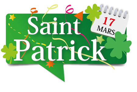 St. Patricks Day March 17 on a bubble. Illustration