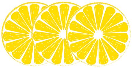 Lemon lime slice yellow
