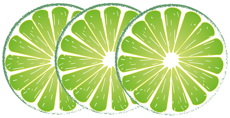 Lemon lime slice green Illustration