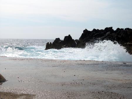 moving water between rocks