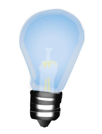 invented: Bulb - Idee - light Illustration