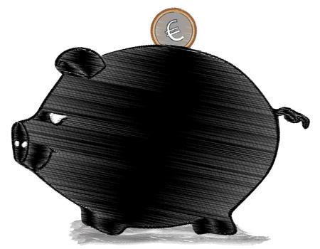 sweetened: Moneybox black pig