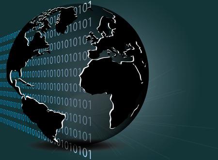 Internet - global computer Network Illustration