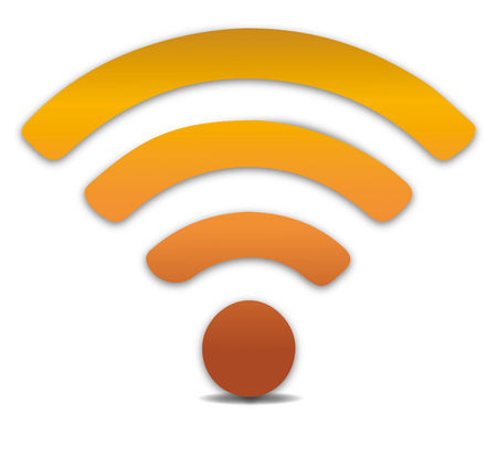 Wireless icon, vector. WiFi icons with shadow