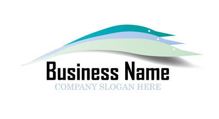 white wave: Business logo design