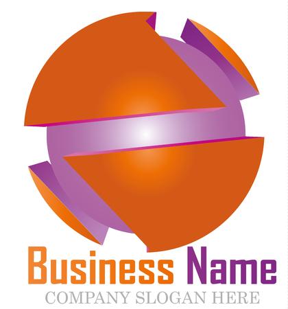white wave: Business logo design 3D.