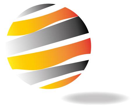 metalic: Business logo design 3D