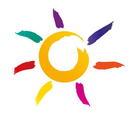 Vector illustration of the sun
