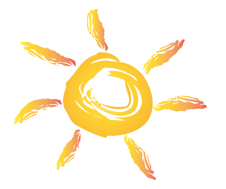 Vector illustration of the sun