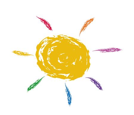 sun energy: Vector illustration of the sun