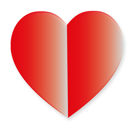 Red Heart Design Icon Vector Illustration Illustration