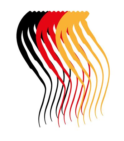 Frange noir or rouge Banque d'images - 78510285