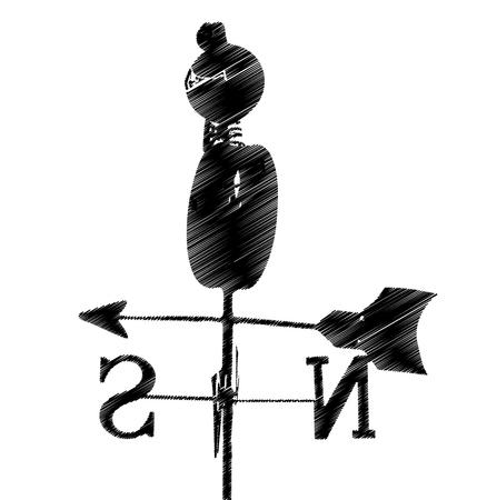 Wind direction, wind direction Illusztráció