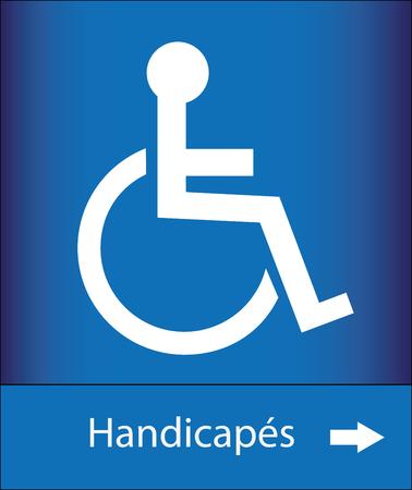 Icone persons with reduced mobility Ilustração