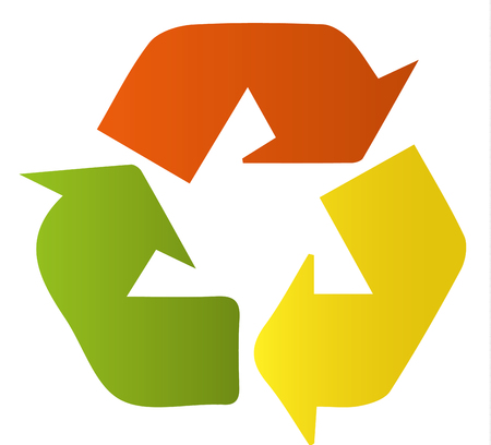 abstract recycle arrows: icon recycling
