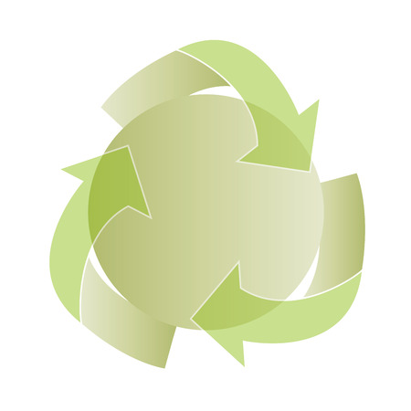 Icon recycling, vector illustration. Isolated on white background.